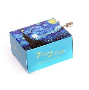 Art and Music - Vincent Van Gogh - Starry Night - Tchaikovsky / Tschaikowski Waltz of Flowers - Handcrank Music Box Thumbnail 2