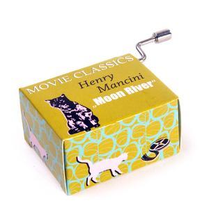 Movie Classics - Henry Mancini - Moon River - Handcrank Music Box Thumbnail 1