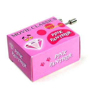 Movie Classics - Henry Mancini - Pink Panther - Handcrank Music Box Thumbnail 1
