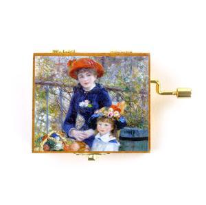 Wooden Mini Music Box - Art & Music - Renoir - Two Sisters on the Terrace & Strauss - Kaiserwaltzer Thumbnail 2