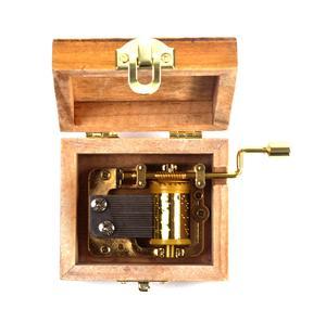 Wooden Mini Music Box - Art & Music - Johann Sebastian Bach Portrait - Minuette in G Major Thumbnail 4