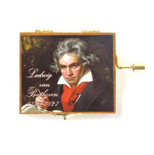 Wooden Mini Music Box - Art & Music - Ludwig van Beethoven   Portrait - Ode to Joy Thumbnail 2