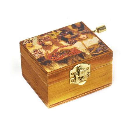 Wooden Mini Music Box - Art & Music - Spring - painting by Alma Tadema. Music by Vivaldi