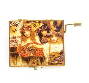Wooden Mini Music Box - Art & Music - Spring - painting by Alma Tadema. Music by Vivaldi Thumbnail 2