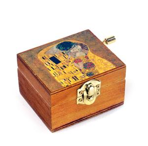 Wooden Mini Music Box - Art & Music - Klimt - The Kiss & As Time Goes By / Casablanca Thumbnail 1