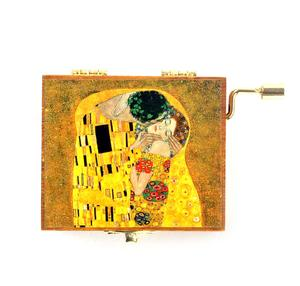 Wooden Mini Music Box - Art & Music - Klimt - The Kiss & As Time Goes By / Casablanca Thumbnail 2