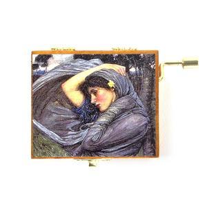 Wooden Mini Music Box - Art & Music - My Lady Greensleeves with Boreas by John William Waterhouse Pre-Raphaelite Thumbnail 2