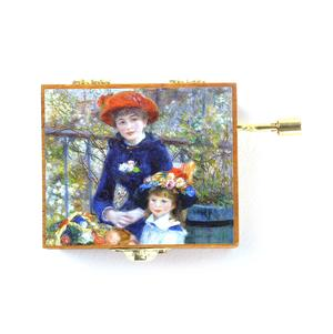 Wooden Mini Music Box - Art & Music - Renoir - Two Sisters on the Terrace & Beethoven 'Fur Elise' Thumbnail 2