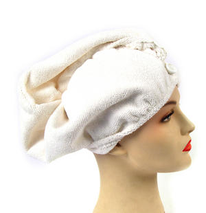 Girlfriend! Microfibre Hair Turban - White Thumbnail 1