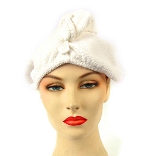 Girlfriend! Microfibre Hair Turban - White Thumbnail 2