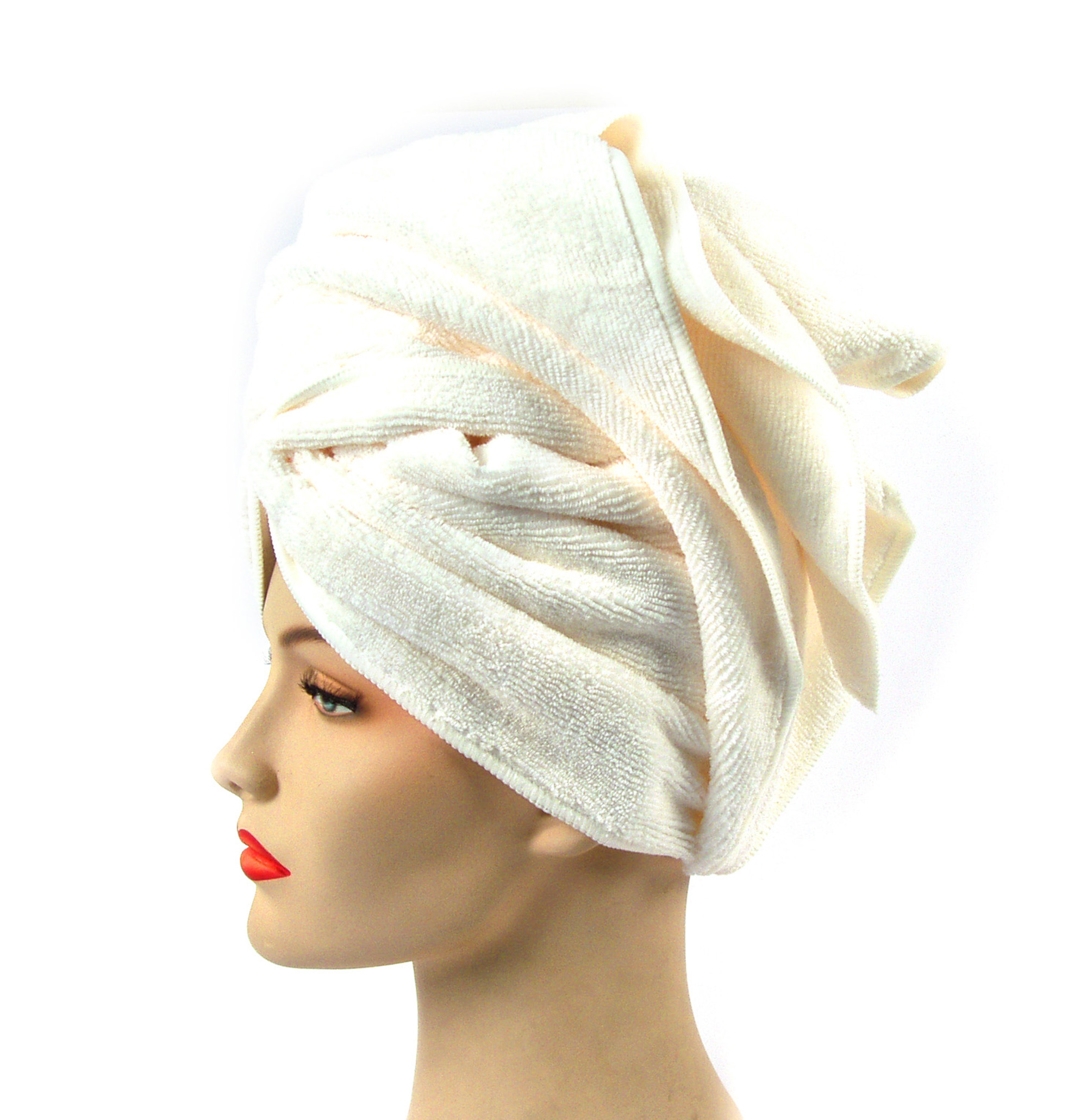 Girlfriend Microfibre Hair Towel White Pink Cat Shop