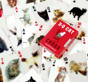 3D Cat Playing Cards Thumbnail 1
