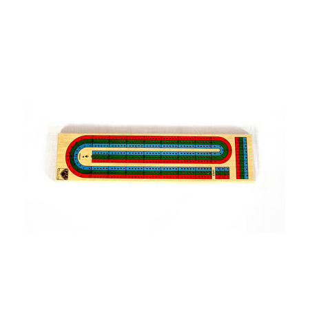 Large Wooden Cribbage Board