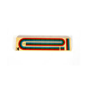 Large Wooden Cribbage Board Thumbnail 1
