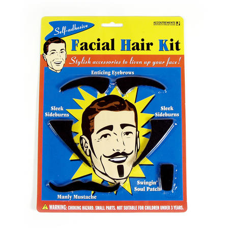 Facial Hair Kit - Eyebrows, Sideburns, Mustache Etc