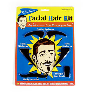 Facial Hair Kit - Eyebrows, Sideburns, Mustache Etc Thumbnail 1