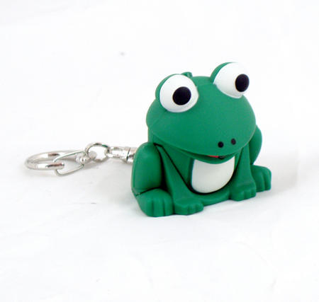 Cute Frog Light Up Keychain With Sound Fx