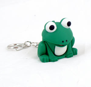 Cute Frog Light Up Keychain With Sound Fx Thumbnail 1