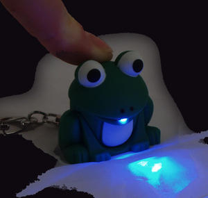 Cute Frog Light Up Keychain With Sound Fx Thumbnail 2