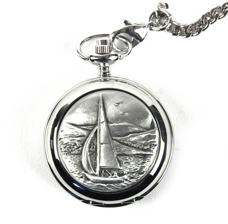 Sailing Boat Pocket Watch