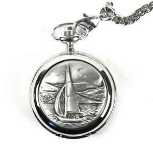Sailing Boat Pocket Watch Thumbnail 1