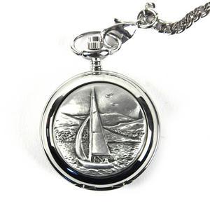 Sailing Boat Pocket Watch