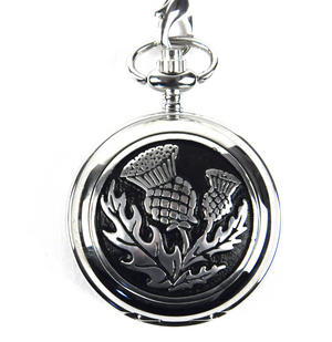 Scottish Thistle Pocket Watch Thumbnail 1
