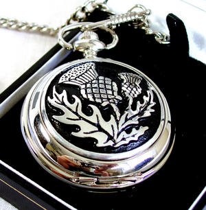 Scottish Thistle Pocket Watch Thumbnail 2