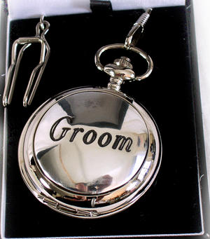 Groom Pocket Watch - Wedding Souvenir Watch Thumbnail 1