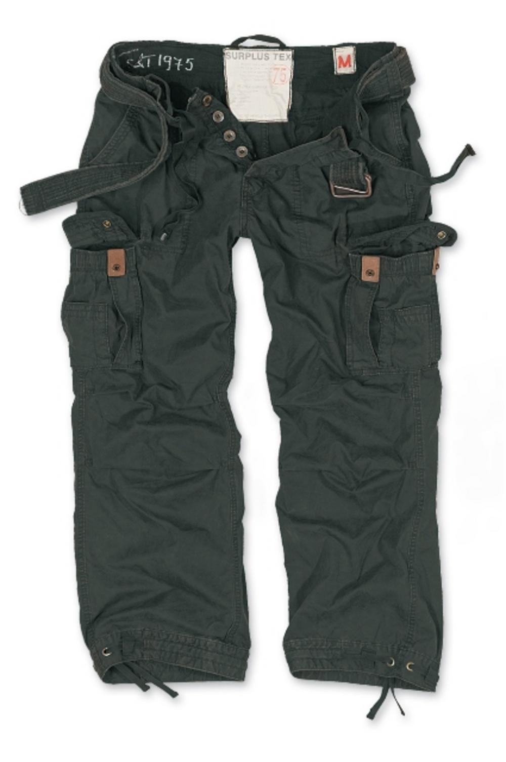 Surplus Raw Vintage Premium Plus Size Combat Trousers Pants Black 5XL