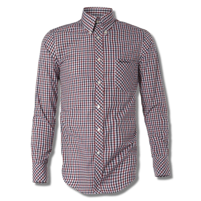 Ben Sherman Long Sleeve Shirt Classic Mod House Check Red