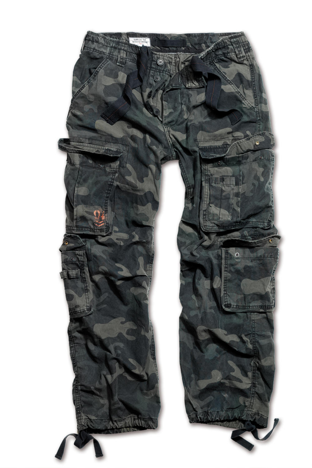 Surplus Raw Vintage Airborne Combat Trousers Pants Black Camo