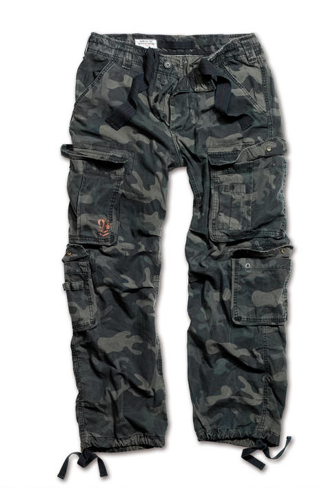Surplus Raw Vintage Airborne Combat Trousers Pants Black Camo  Thumbnail 1