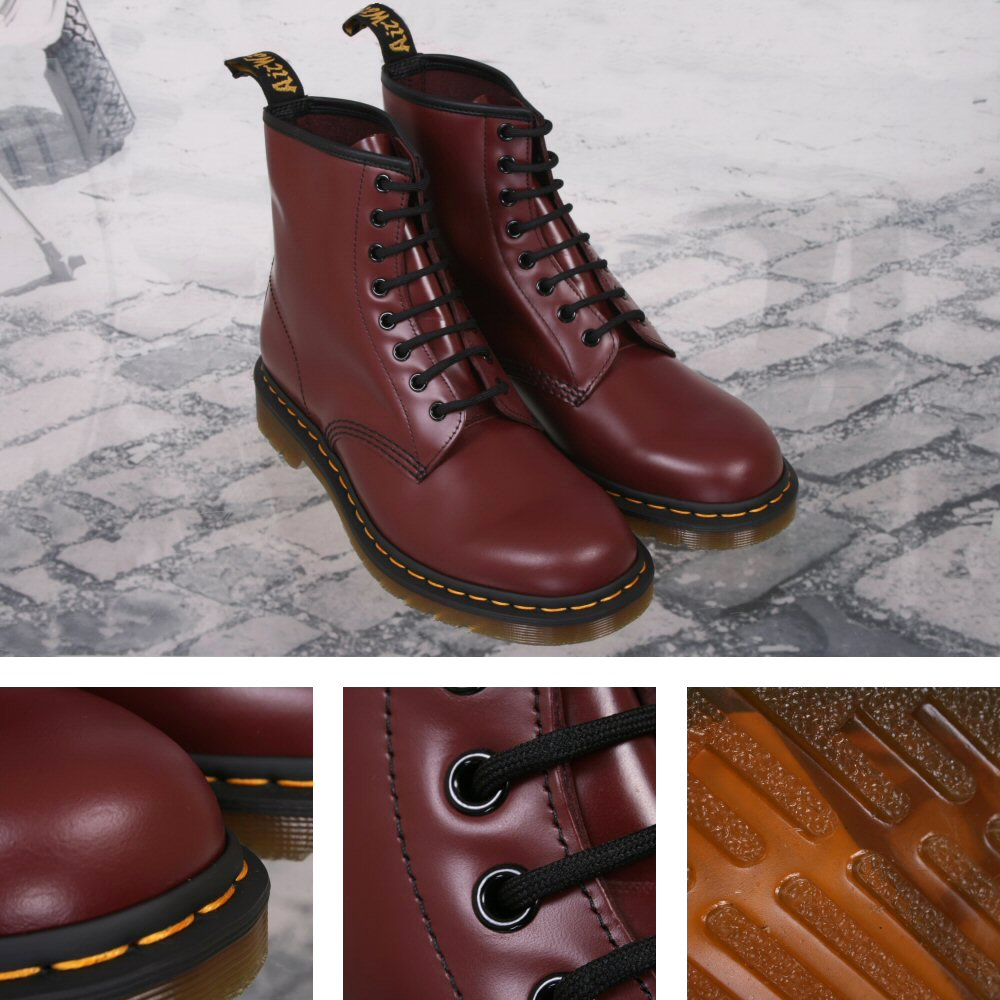 ecbc3b2ed74c New Dr. Martens 1460 8 Eye Boot Cherry Red Smooth Thumbnail 1