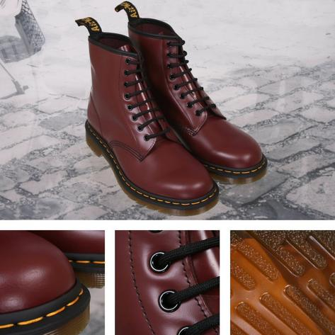 New Dr. Martens 1460 8 Eye Boot Cherry Red Smooth Thumbnail 1