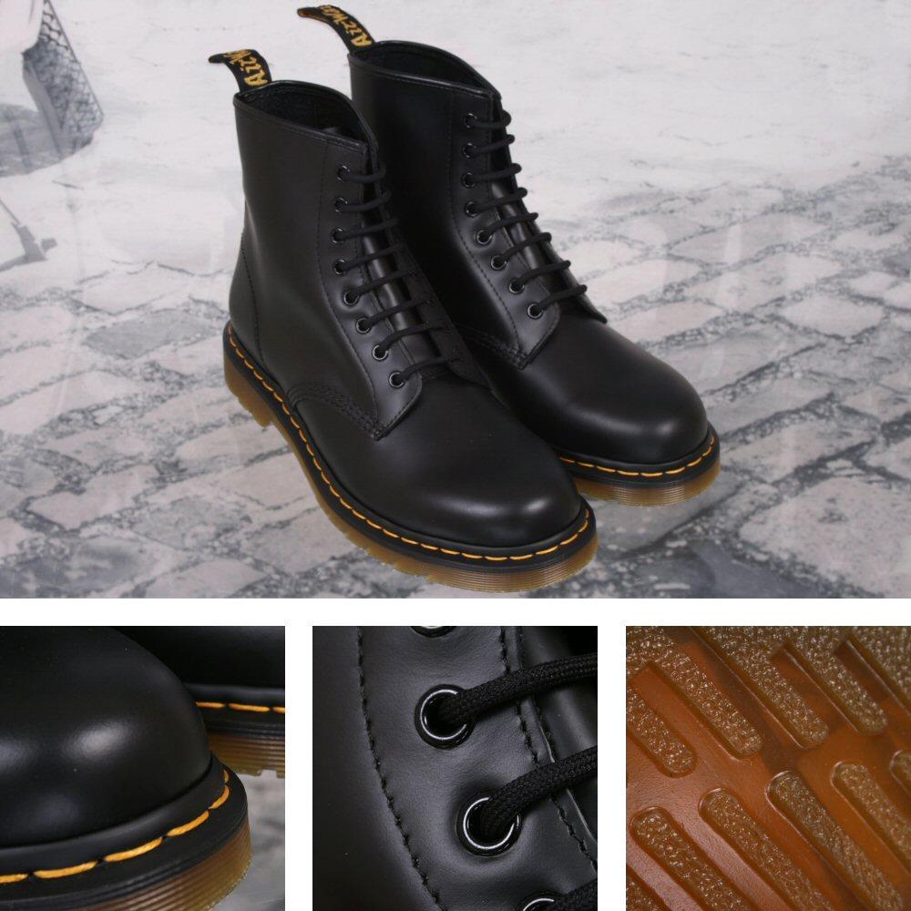 303a0664d72 New Dr. Martens 1460 8 Eye Boot BLACK Smooth UK 13 Thumbnail 1