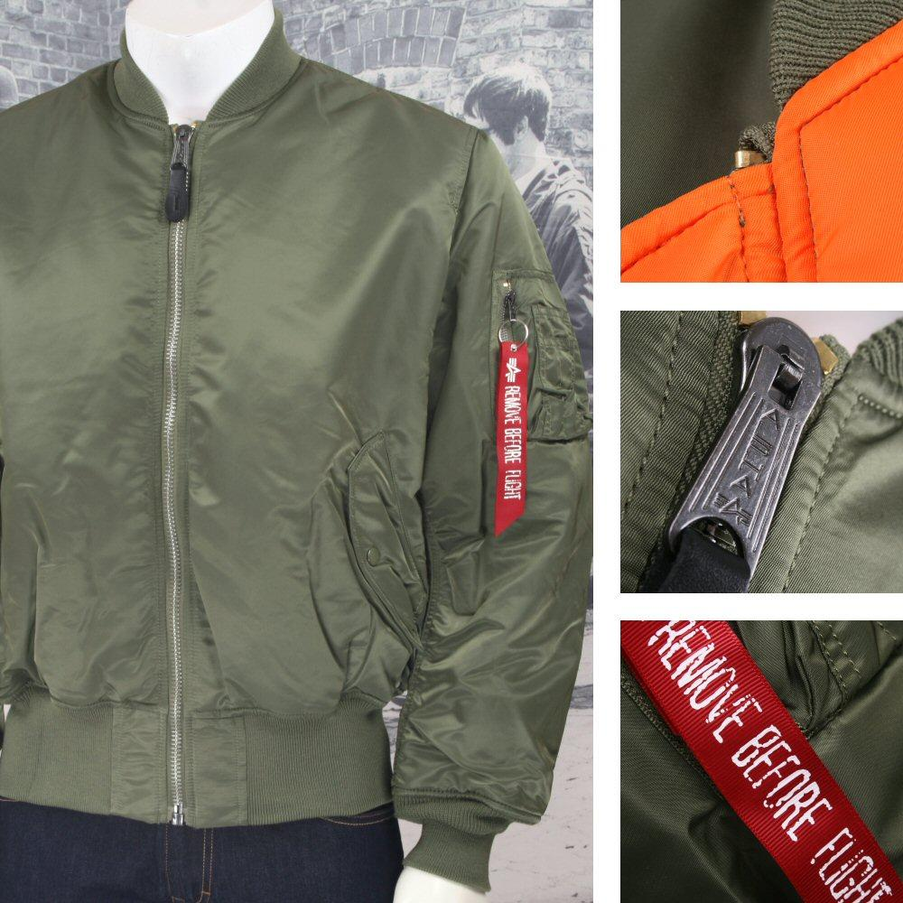 New Alpha Industries MA-1 MA1 MA 1 Flight Jacket SAGE GREEN