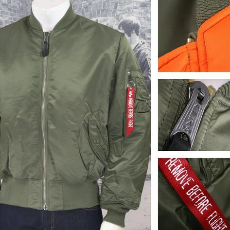 New Alpha Industries MA-1 MA1 MA 1 Flight Jacket SAGE GREEN Thumbnail 1