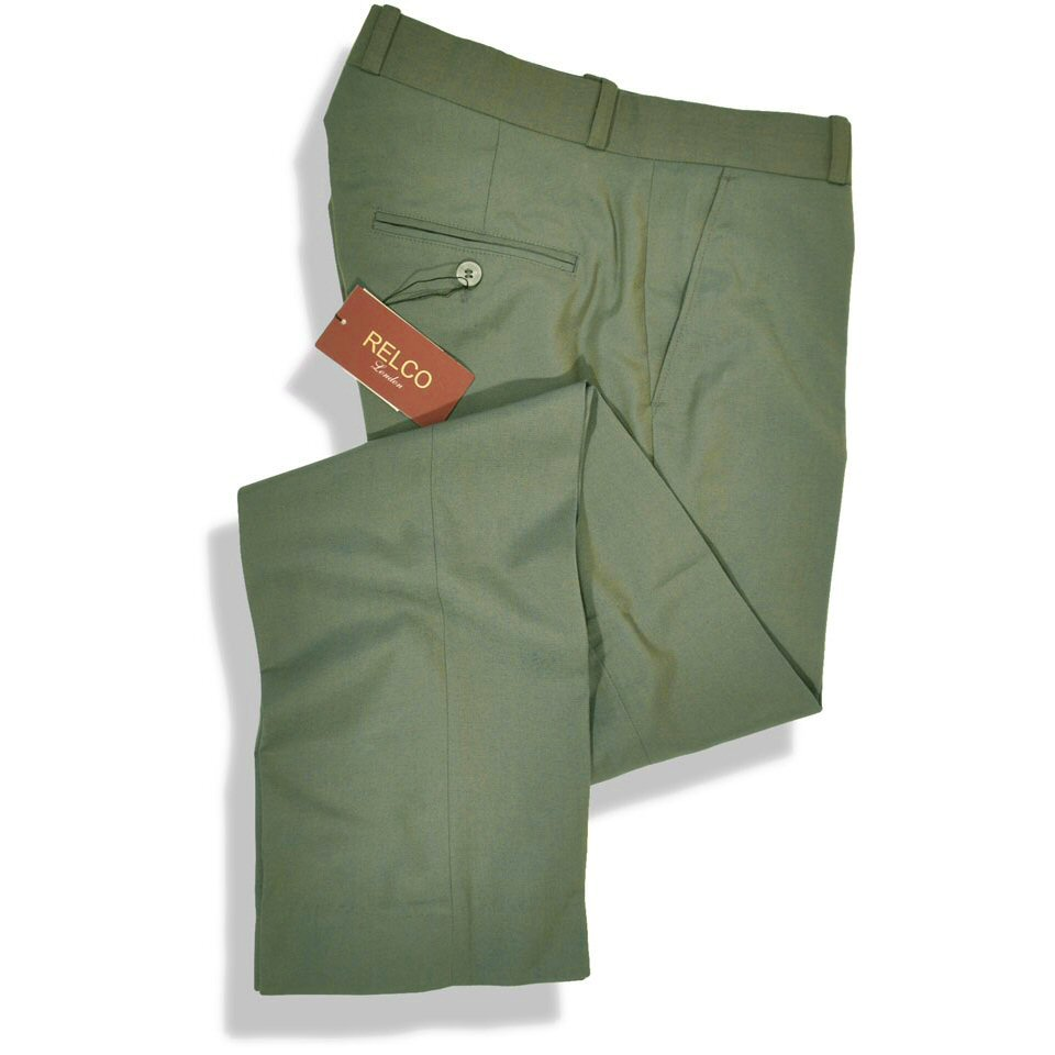 new relco mod retro two tone trousers green gold 40 w adaptor clothing. Black Bedroom Furniture Sets. Home Design Ideas