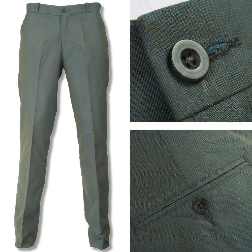 New Relco Mod Retro Two Tone Trousers Green / Gold