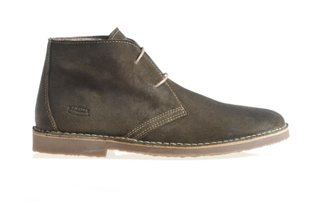 New Ikon Classic 2 Hole Suede Chukka Desert Boot Olive
