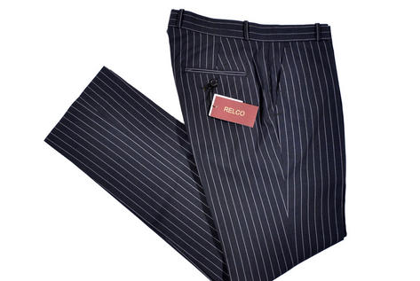 Relco Mod Retro Sta Press Fit Stripe Trouser Black  Thumbnail 1