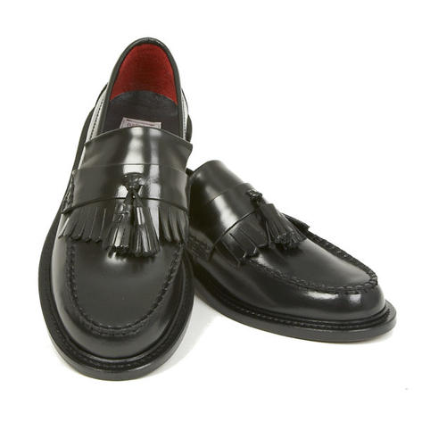New Delicious Junction Tassel Loafers Mod Shoes Black Thumbnail 1