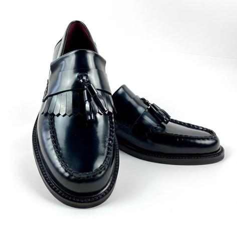 New Delicious Junction Tassel Loafers Mod Shoes Black Thumbnail 2