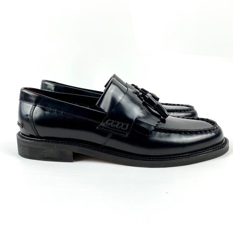 New Delicious Junction Tassel Loafers Mod Shoes Black Thumbnail 3
