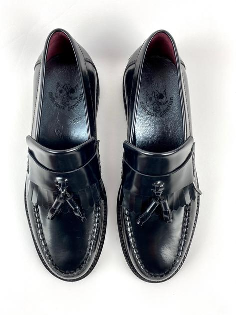 New Delicious Junction Tassel Loafers Mod Shoes Black Thumbnail 5