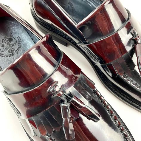 New Delicious Junction Tassel Loafers Mod Shoe Ox Blood Thumbnail 7