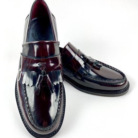 New Delicious Junction Tassel Loafers Mod Shoe Ox Blood Thumbnail 2