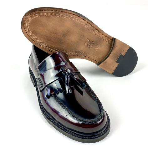 New Delicious Junction Tassel Loafers Mod Shoe Ox Blood Thumbnail 4