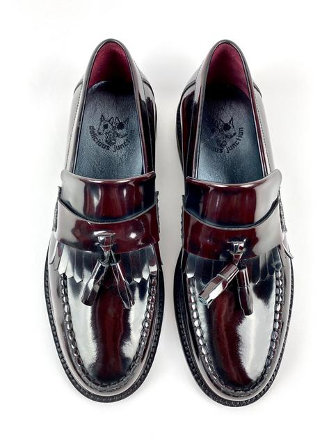 New Delicious Junction Tassel Loafers Mod Shoe Ox Blood Thumbnail 5